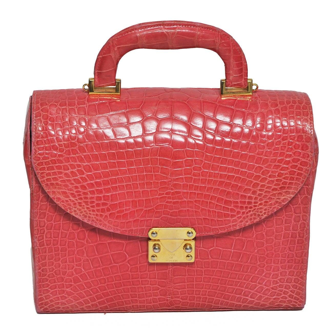Lana of London Shrimp Alligator Handbag