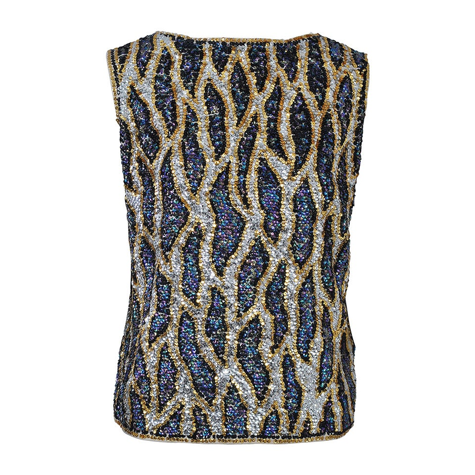 Abstract Sequin Shell, 1960s