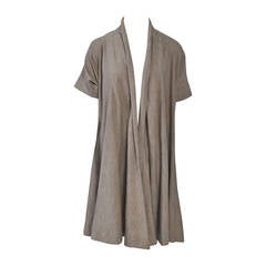 Claire McCardell Oatmeal Knit Swing Coat