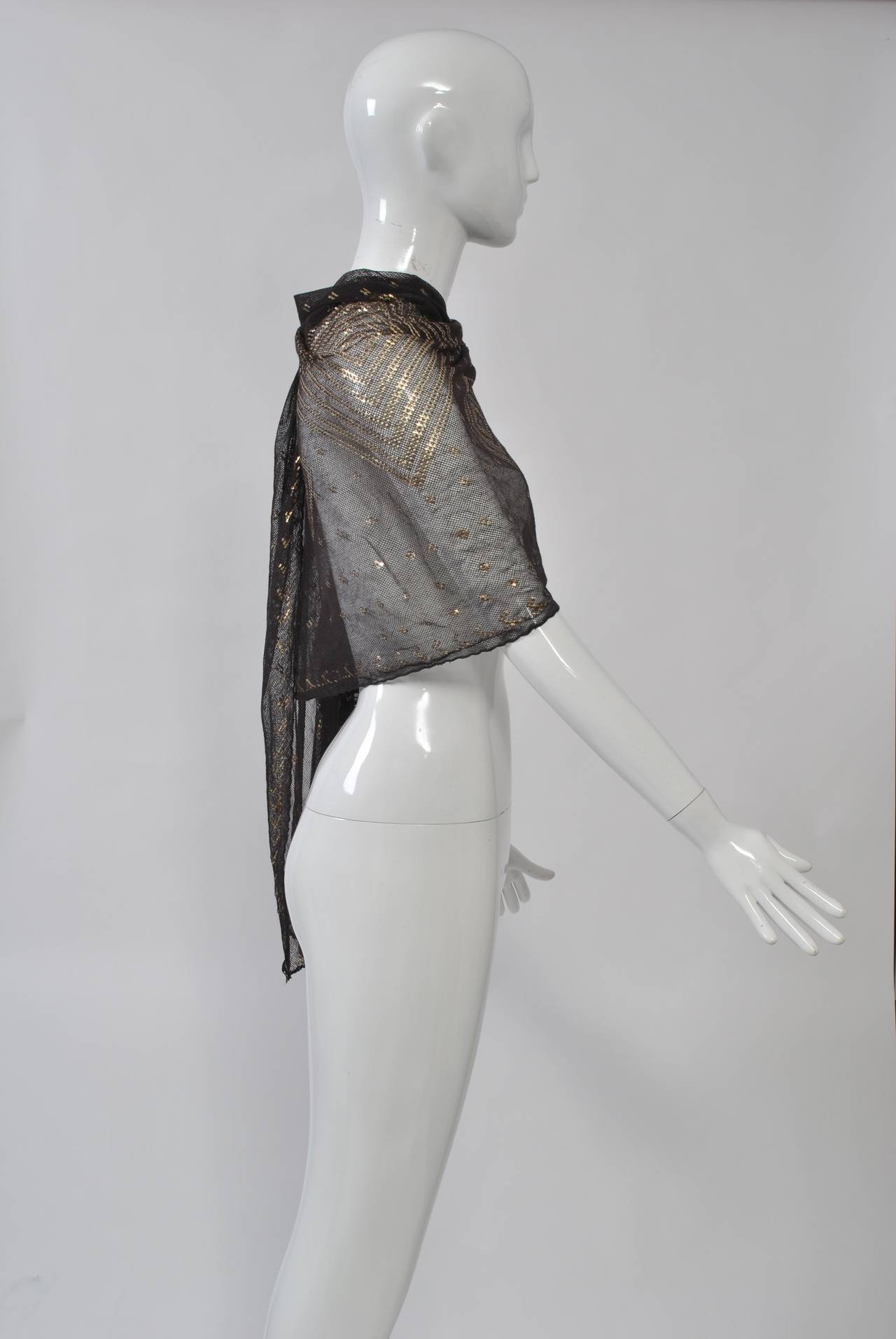 Art Deco Assuit Shawl In Excellent Condition For Sale In Alford, MA