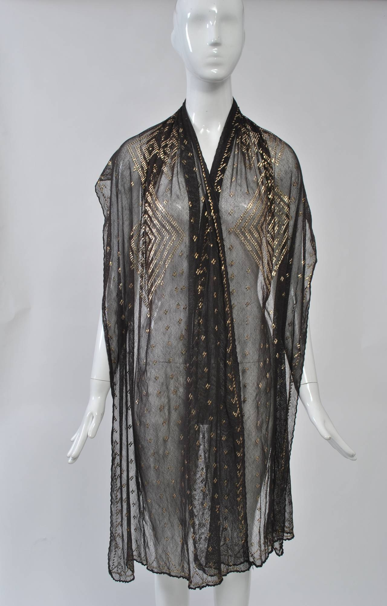 Art Deco Assuit Shawl For Sale 3