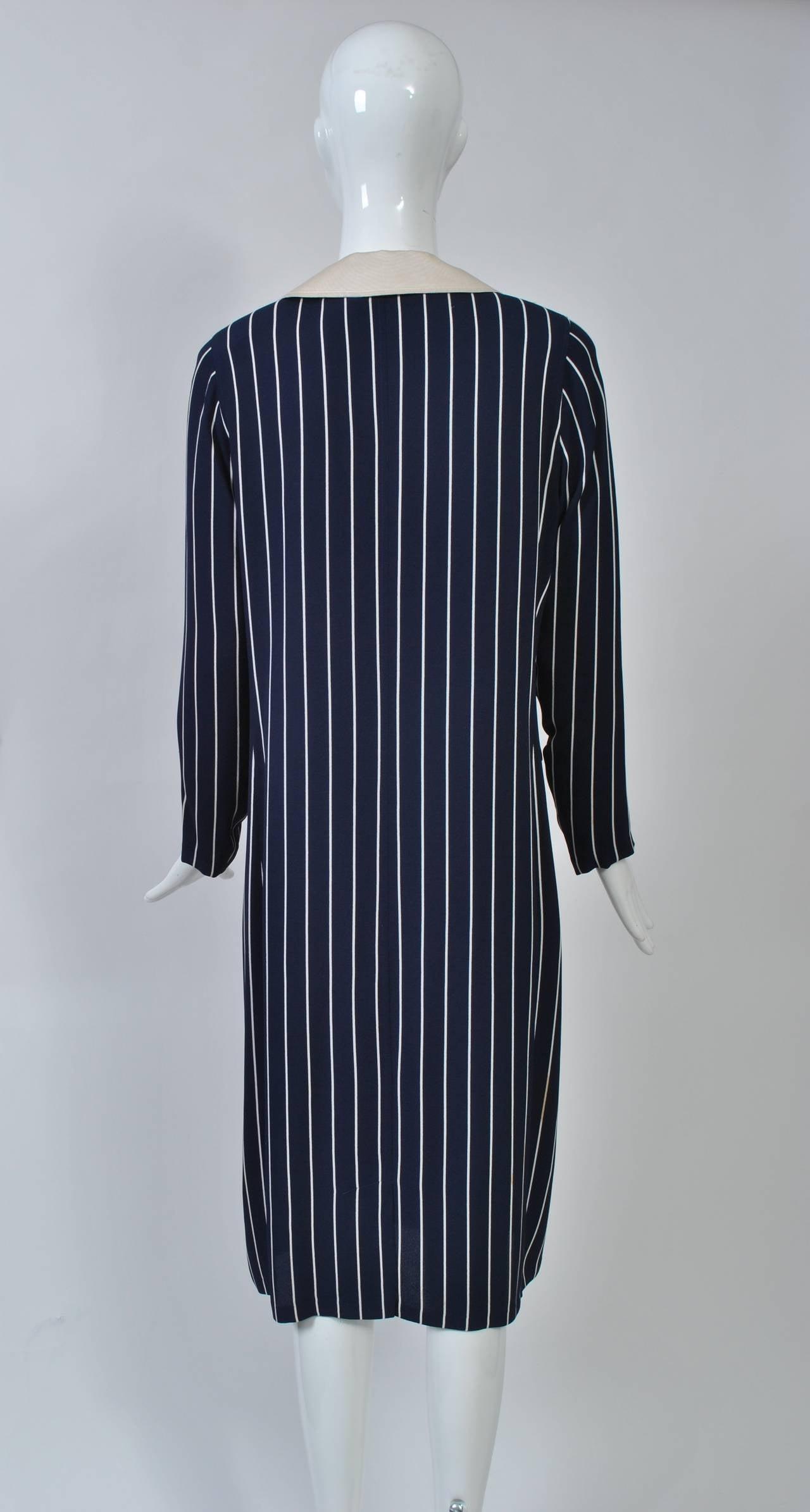 Adolfo Pinstripe Shirtdress 4