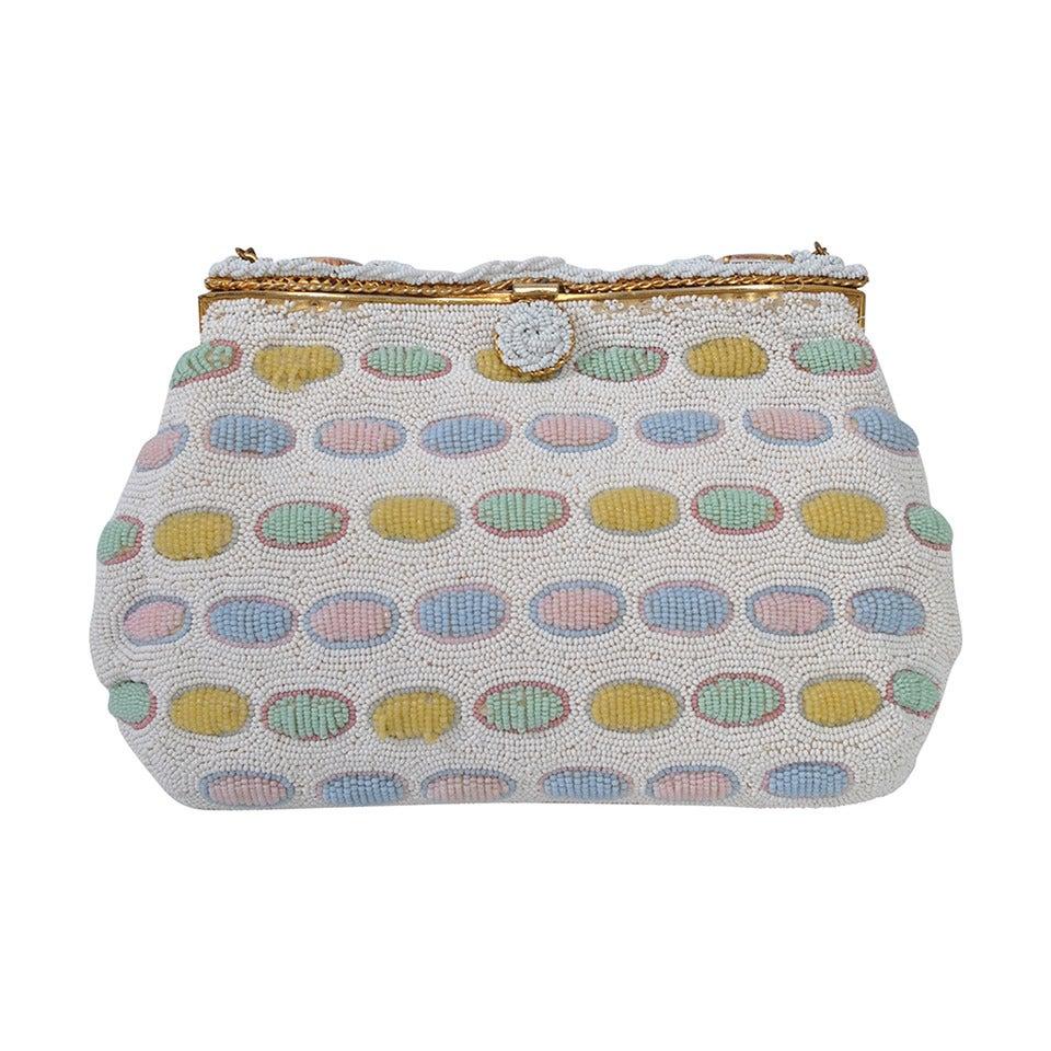 Pastel Beaded Bag