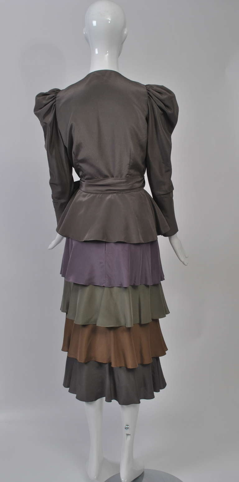 Multi Colored Two Piece Tiered Outfit For Sale At 1stdibs