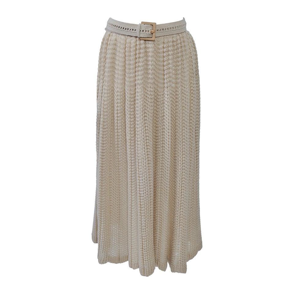 Missoni Beige Knit Skirt