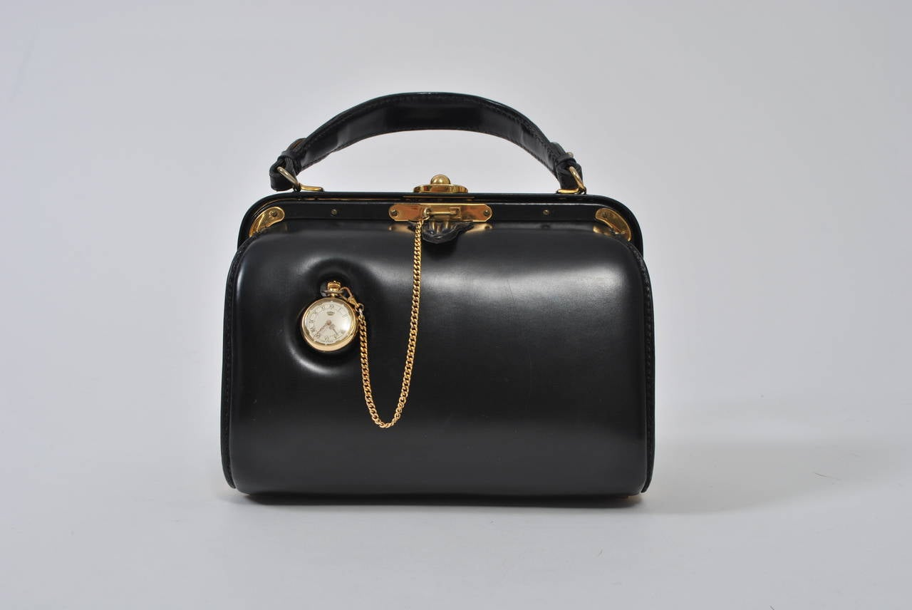 From High End Leather Goods Purveyor Lederer This Private Label 1960s Handbag Is