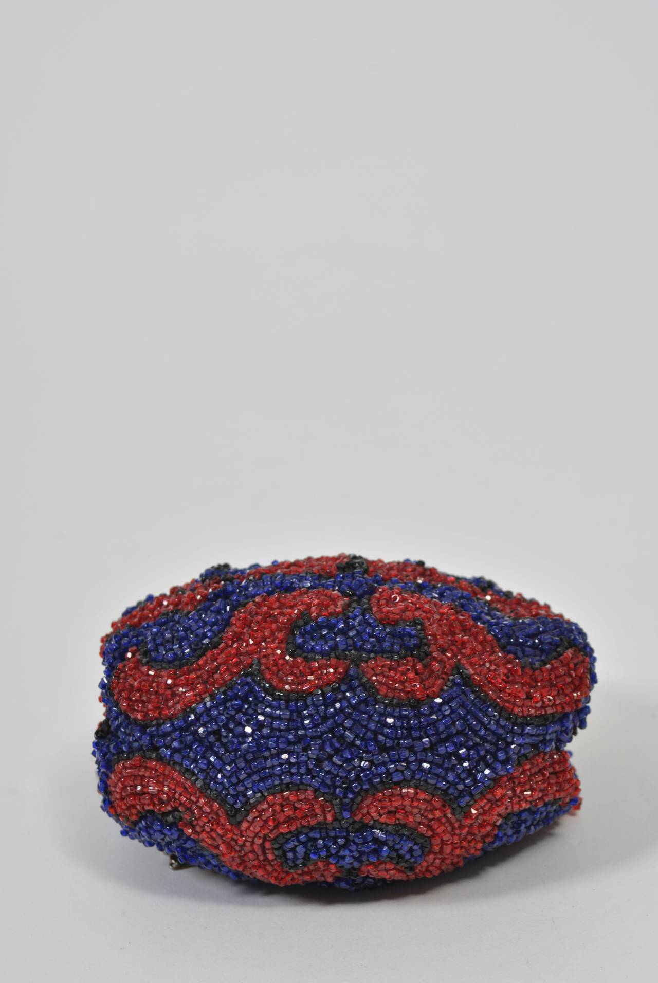 1stdibs 1930s Red And Blue Beaded Purse 9J6x5dsY