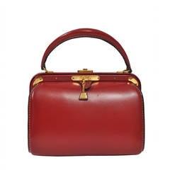Lederer 1960s Red Leather Handbag