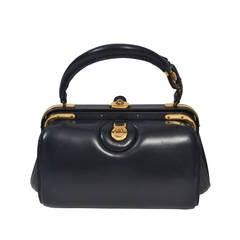 Lederer 1960s Navy Handbag