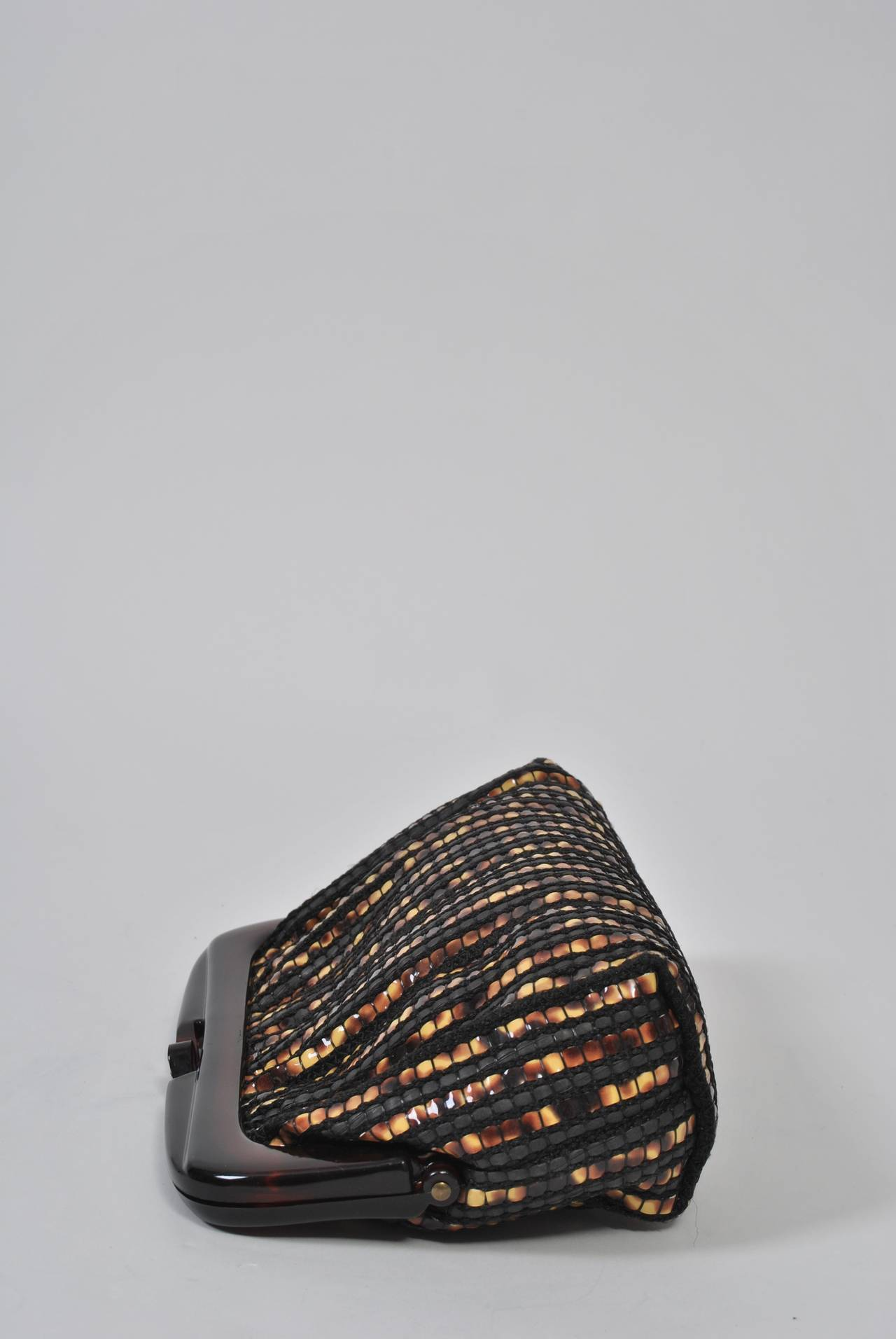 1970s Tortoise Look Clutch, Italy For Sale 1