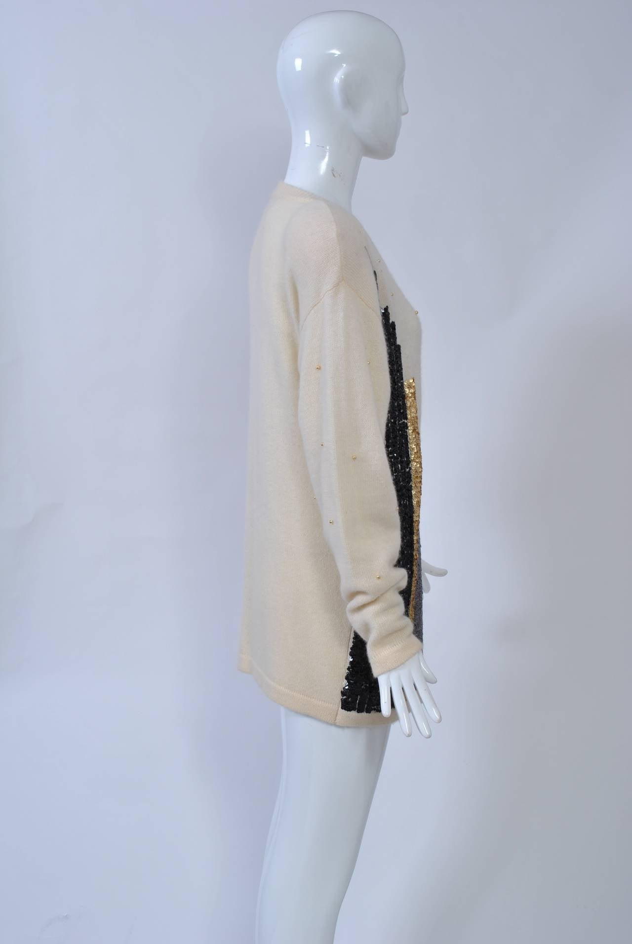 NY Sequined Skyline Sweater 2