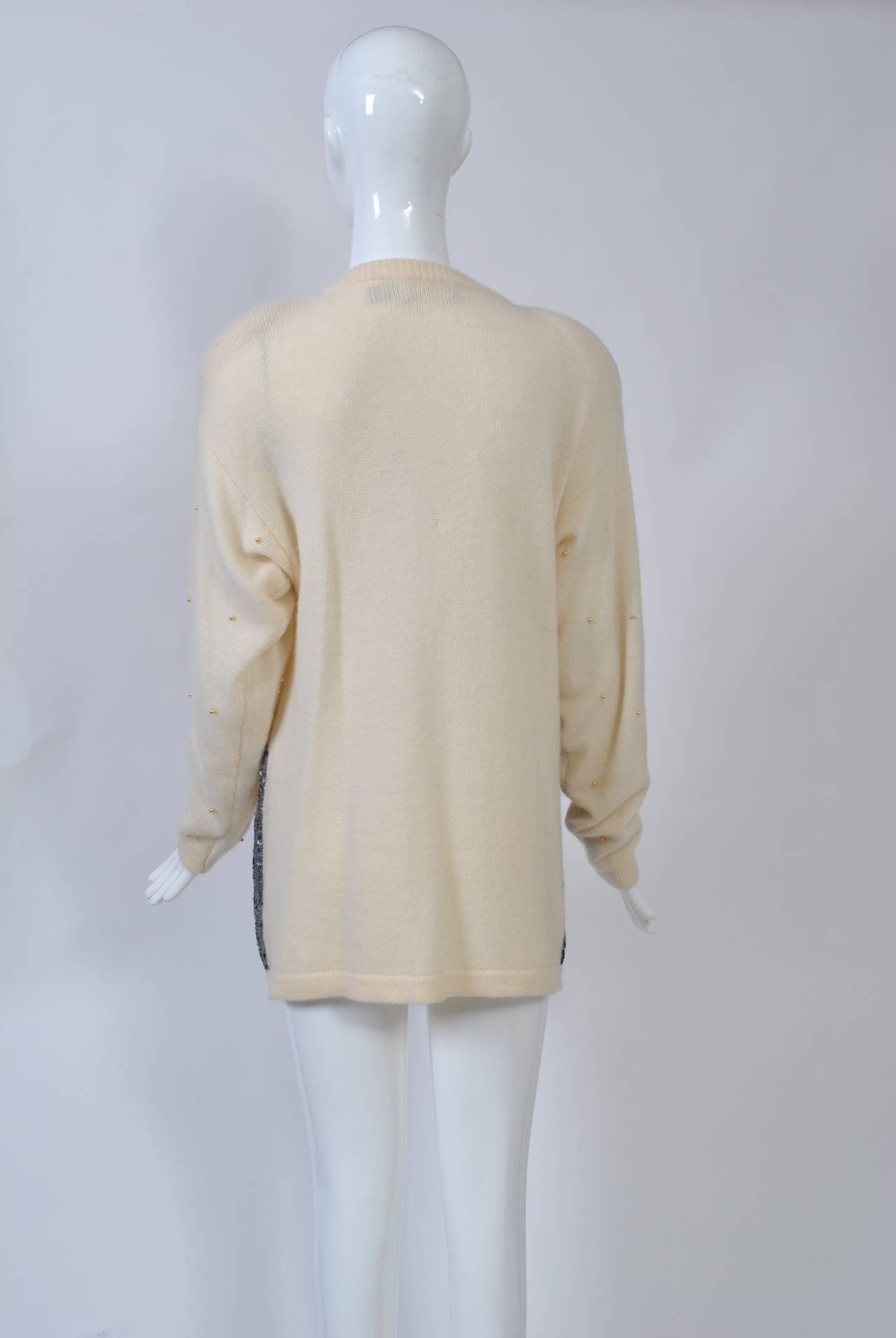 NY Sequined Skyline Sweater 3