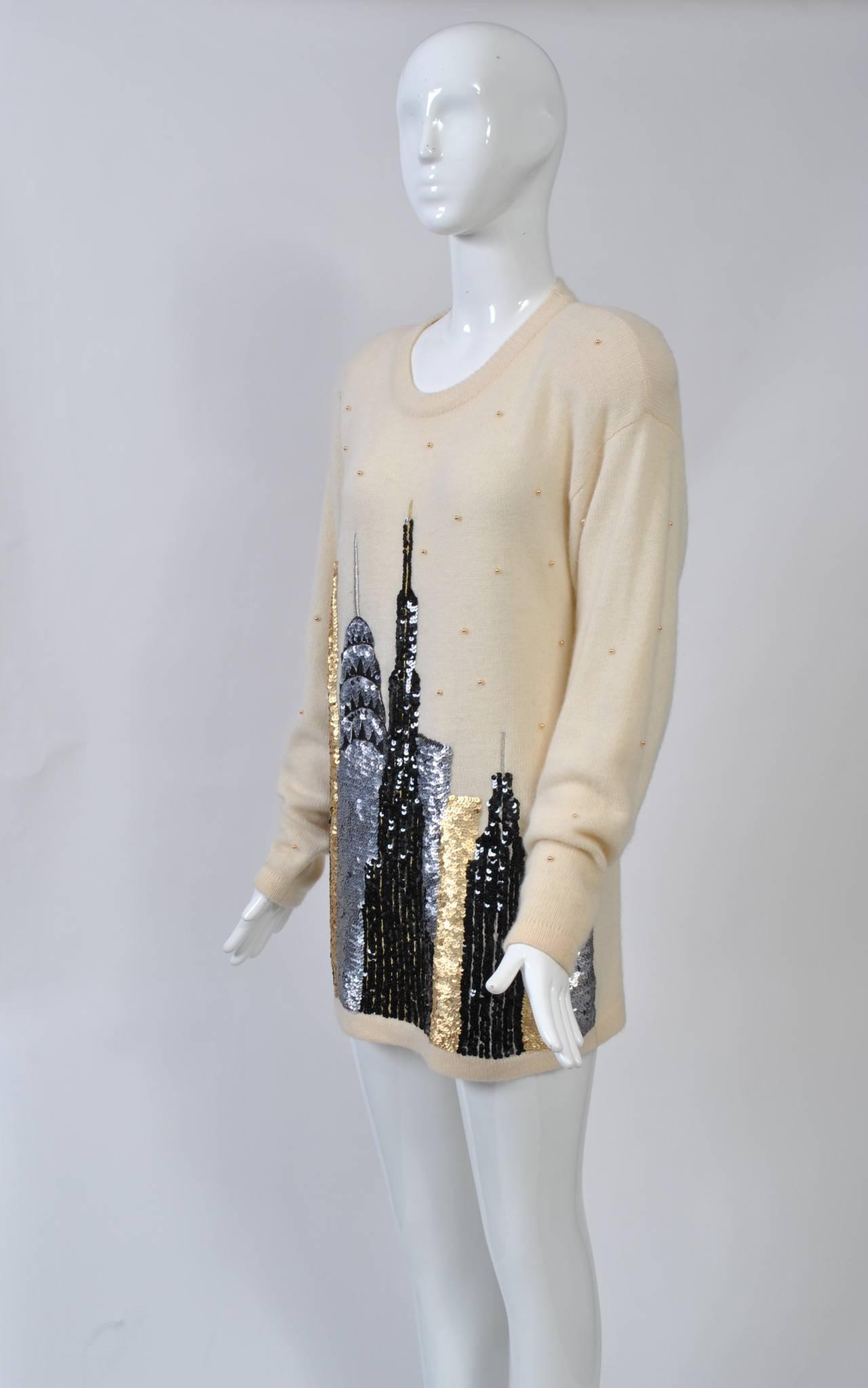 NY Sequined Skyline Sweater 6