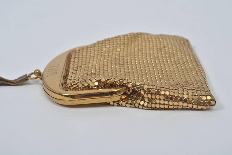 Whiting & Davis Gold Mesh Bag For Sale 1