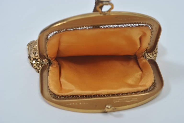 Whiting & Davis Gold Mesh Bag For Sale 2