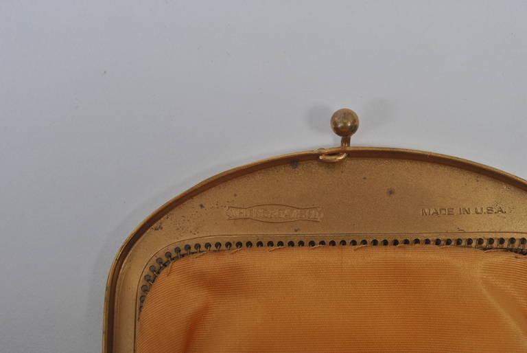 Whiting & Davis Gold Mesh Bag For Sale 3