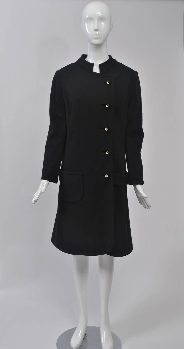 Mam'selle Black Knit Coat 2
