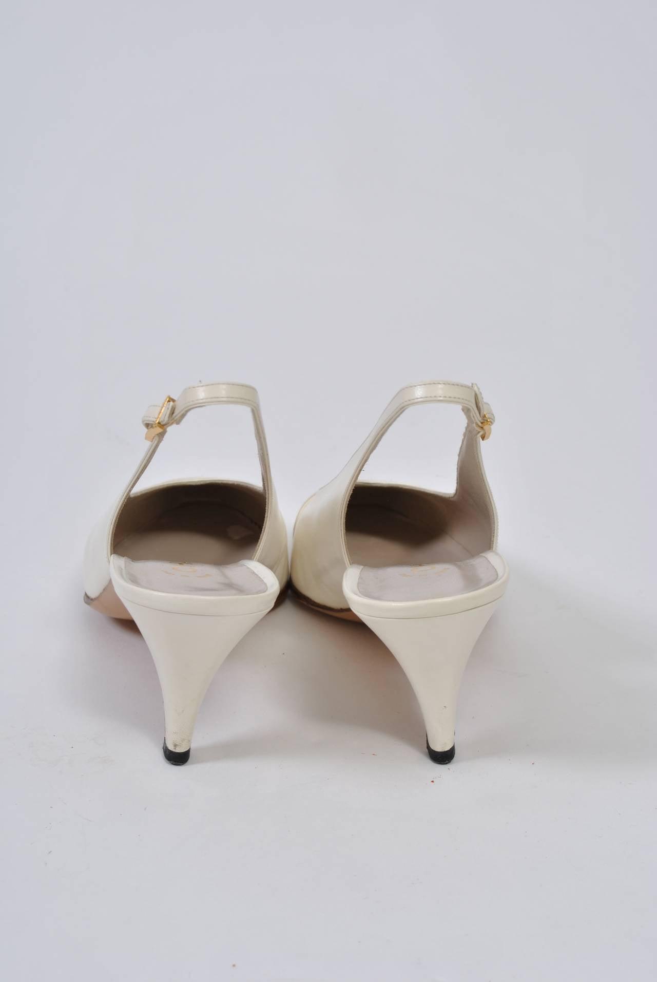 Chanel Satin Toe Slingbacks 2