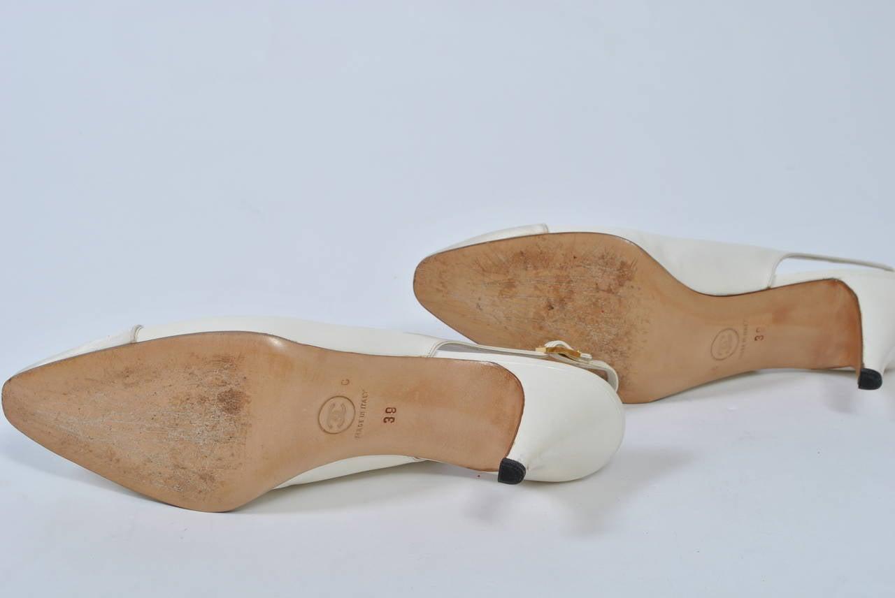 Chanel Satin Toe Slingbacks 7
