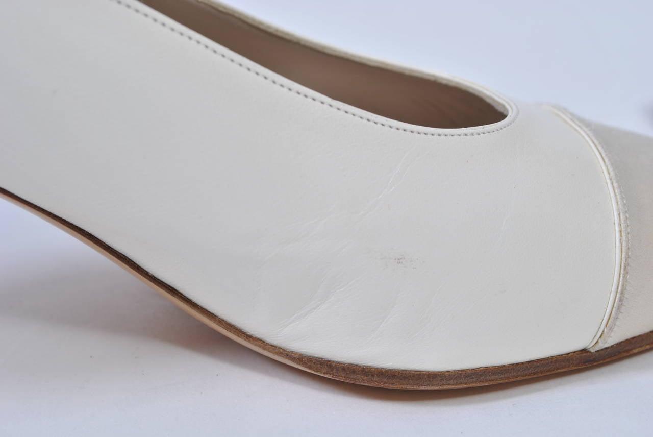 Chanel Satin Toe Slingbacks 10