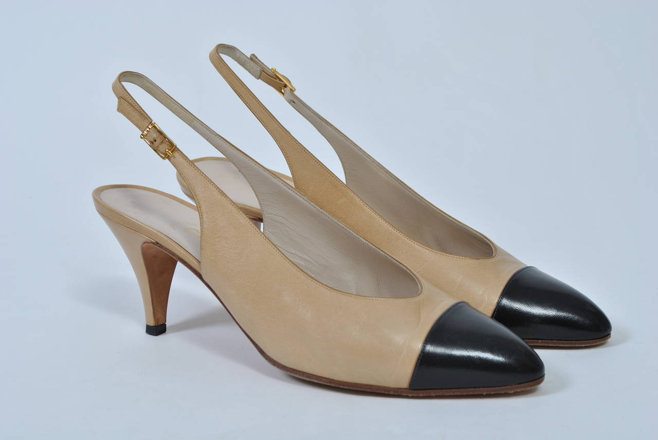 Chanel Classic Slingbacks For Sale 1
