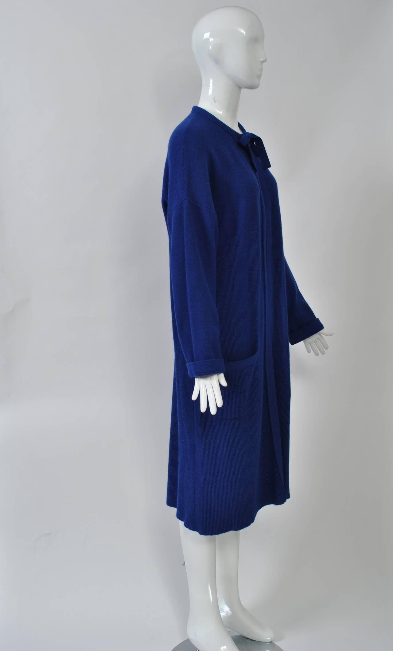 Purple Sonia Rykiel Blue Sweater Coat For Sale