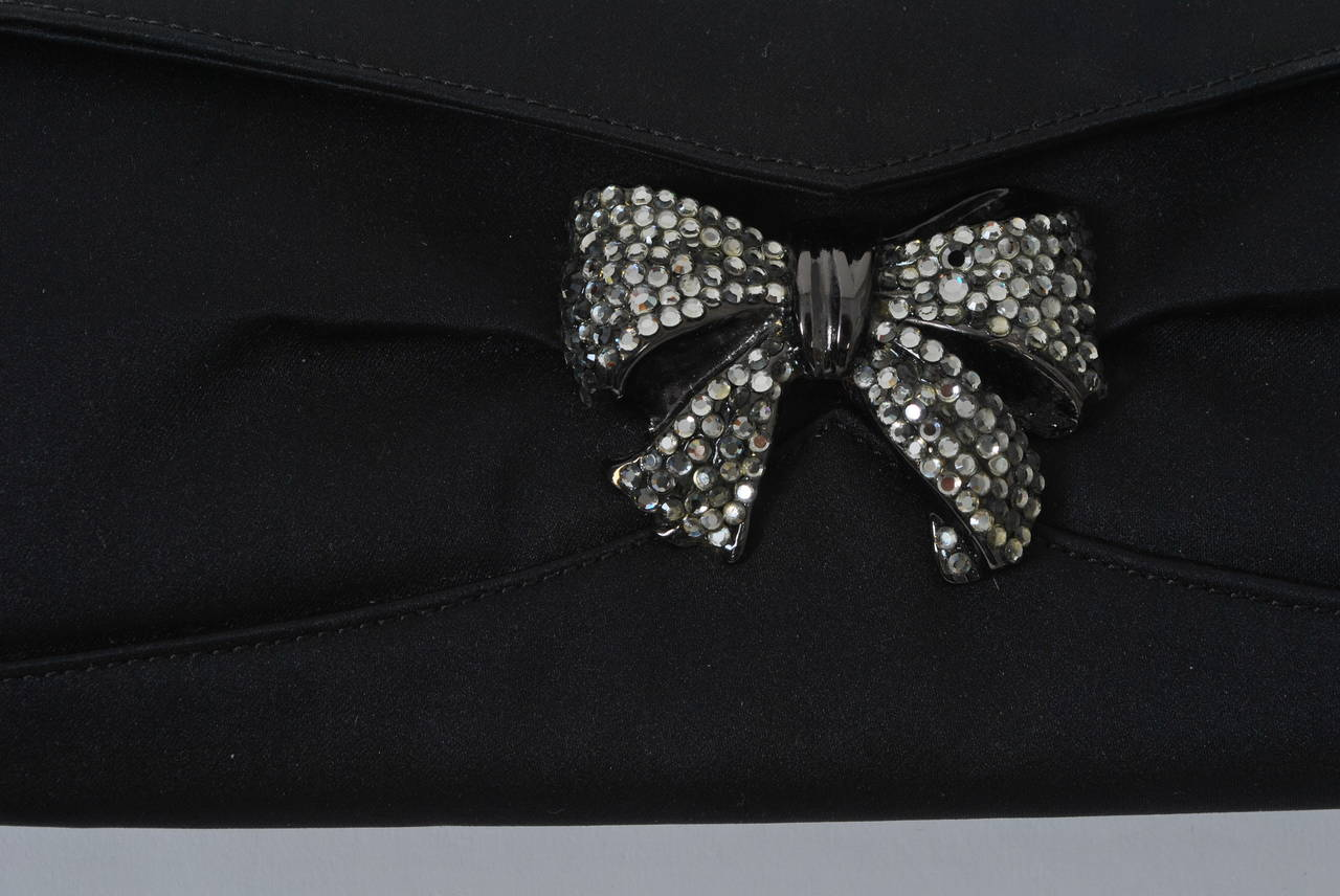 Rodo black satin clutch for sale at 1stdibs for Interior design 07871