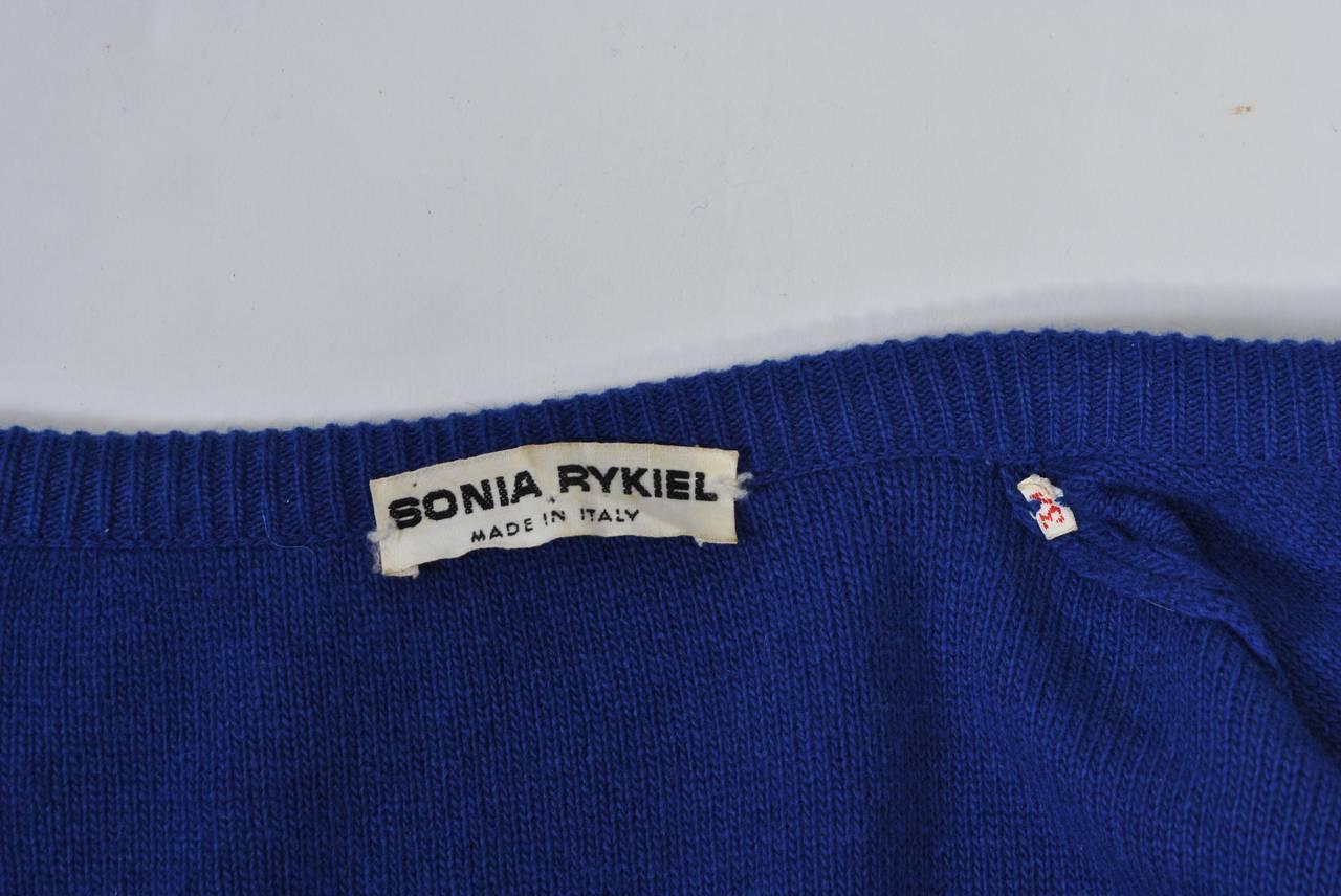 Women's Sonia Rykiel Blue Sweater Coat For Sale