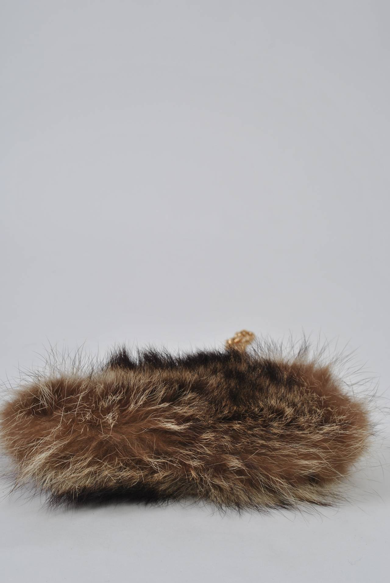 Fur Shoulder Bag In Excellent Condition For Sale In Alford, MA