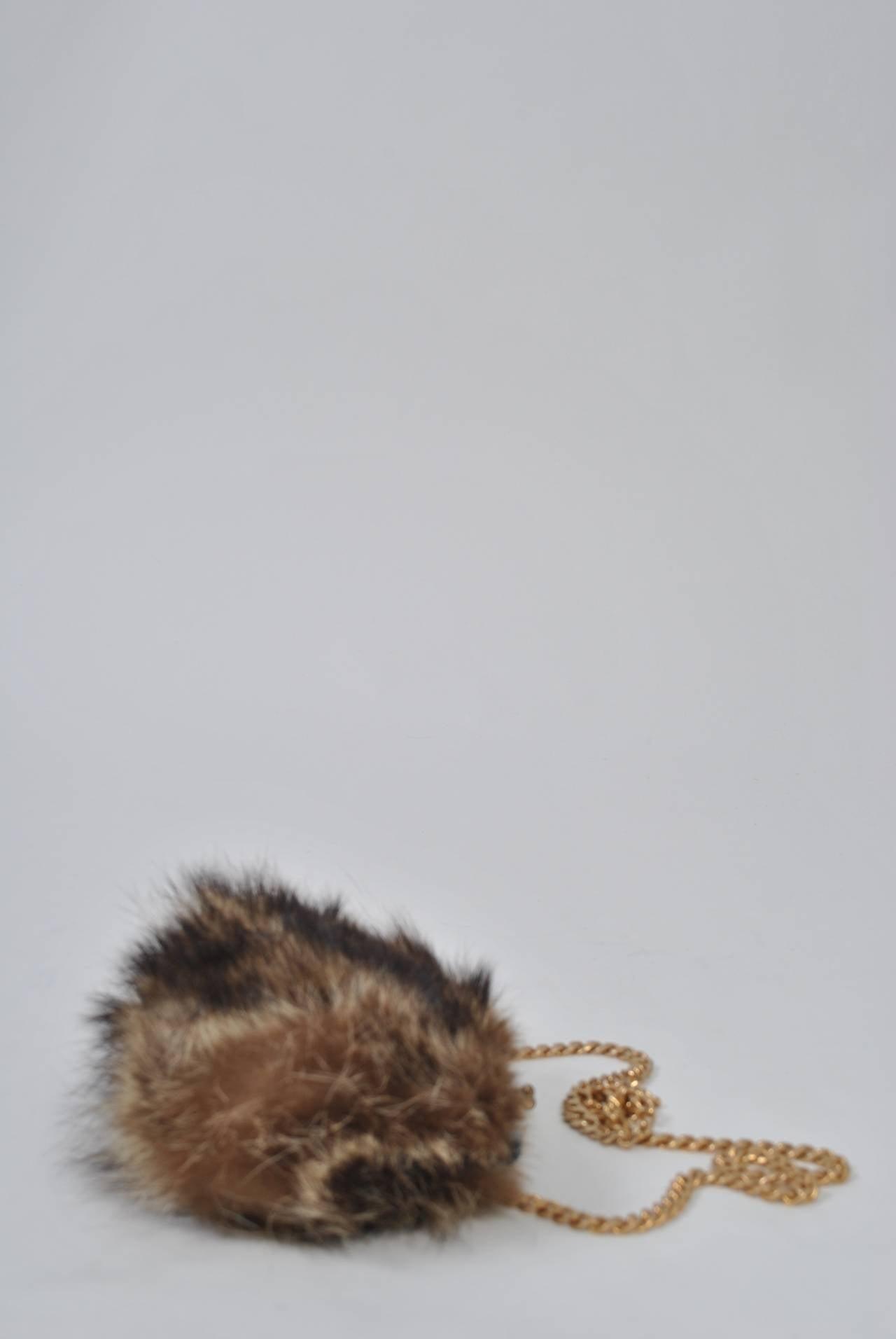 Fur Shoulder Bag 3