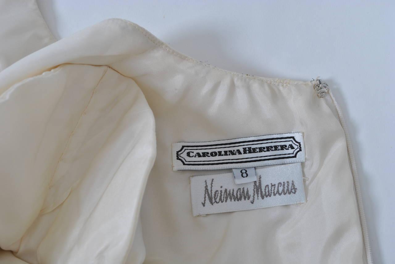 Carolina Herrera Ivory and Metallic Dress For Sale 2