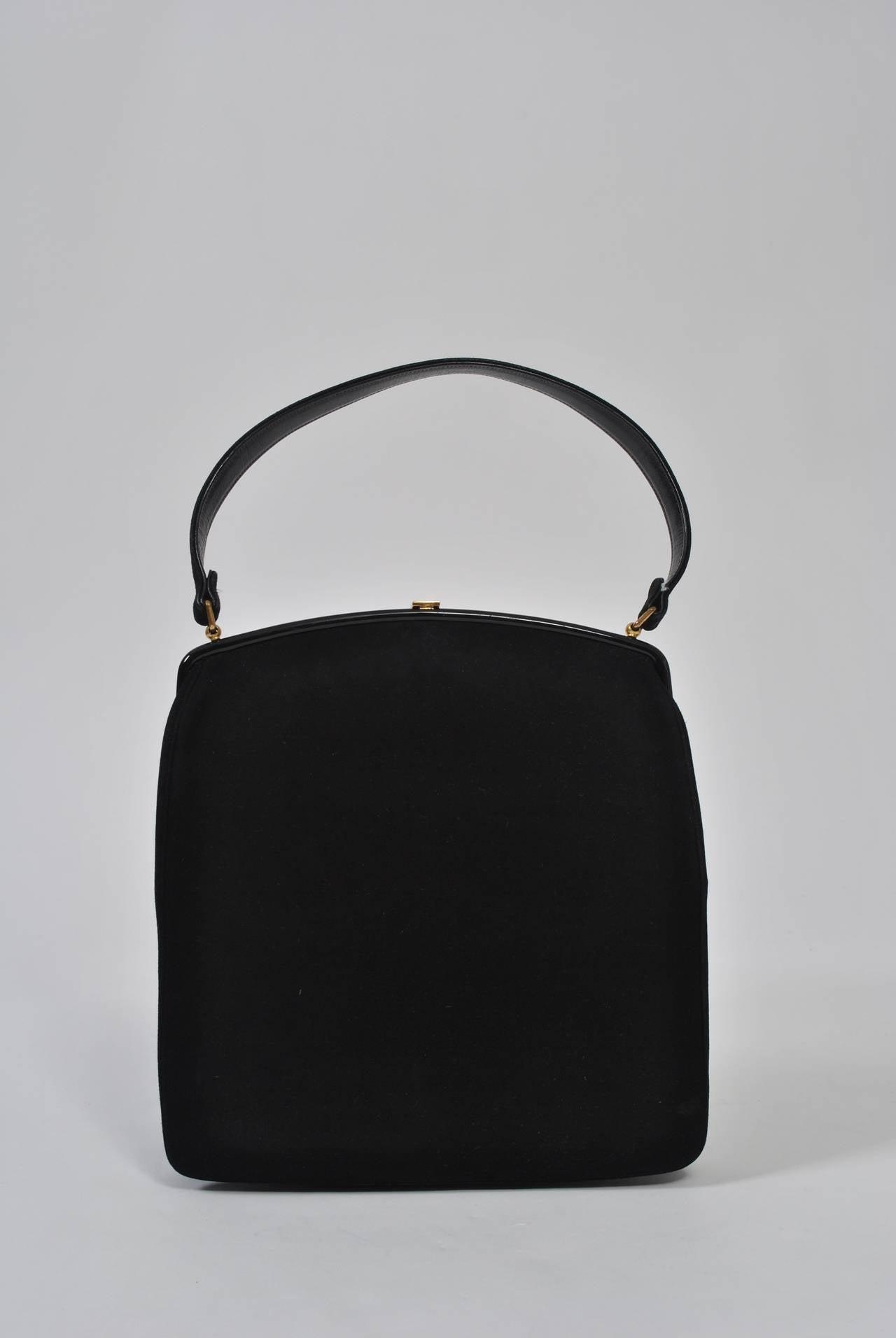 Coblentz 1960s Black Suede Handbag 6