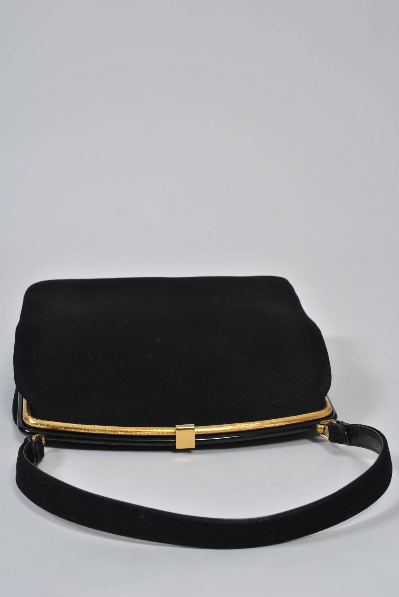 Coblentz 1960s Black Suede Handbag 2