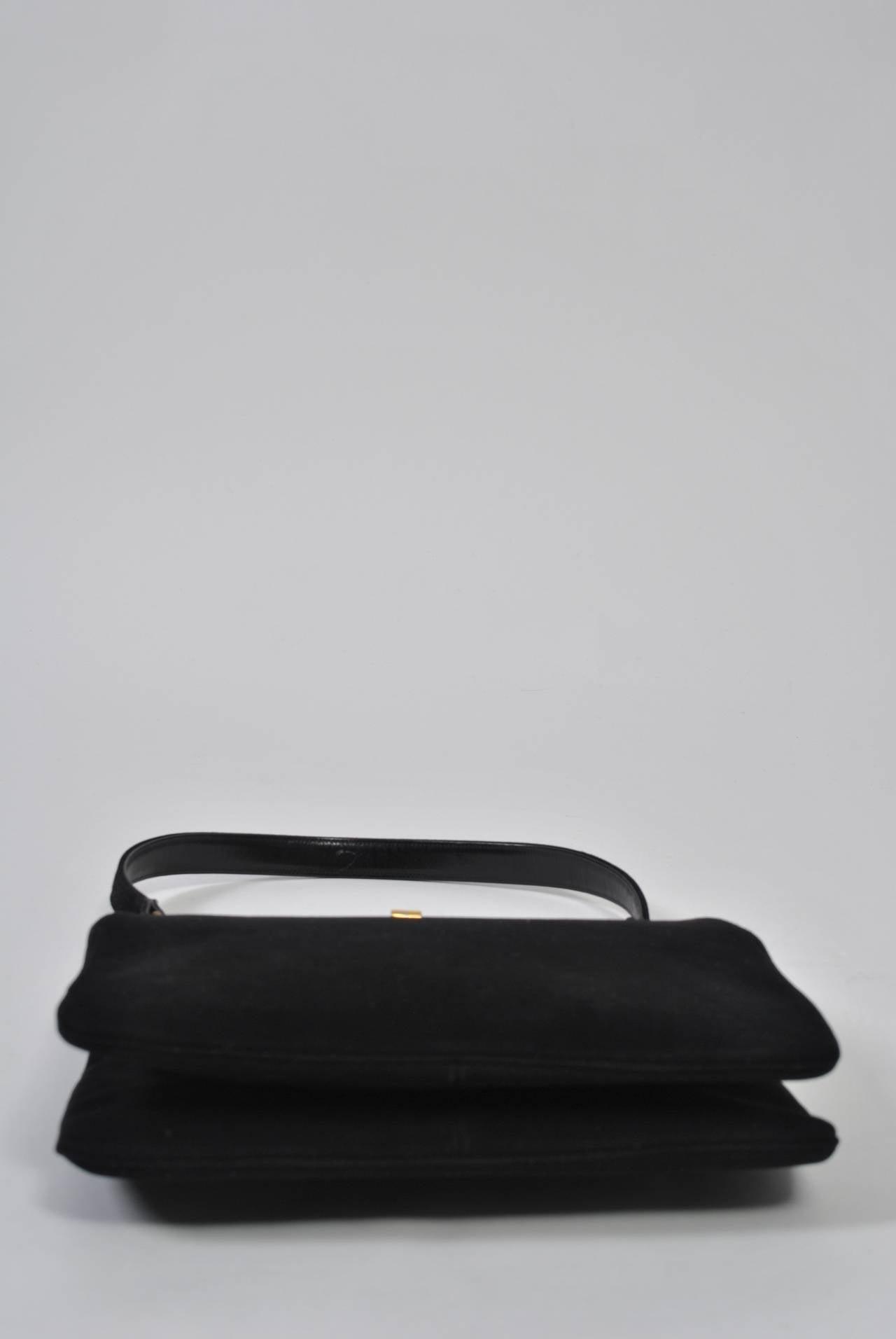 Coblentz 1960s Black Suede Handbag 3