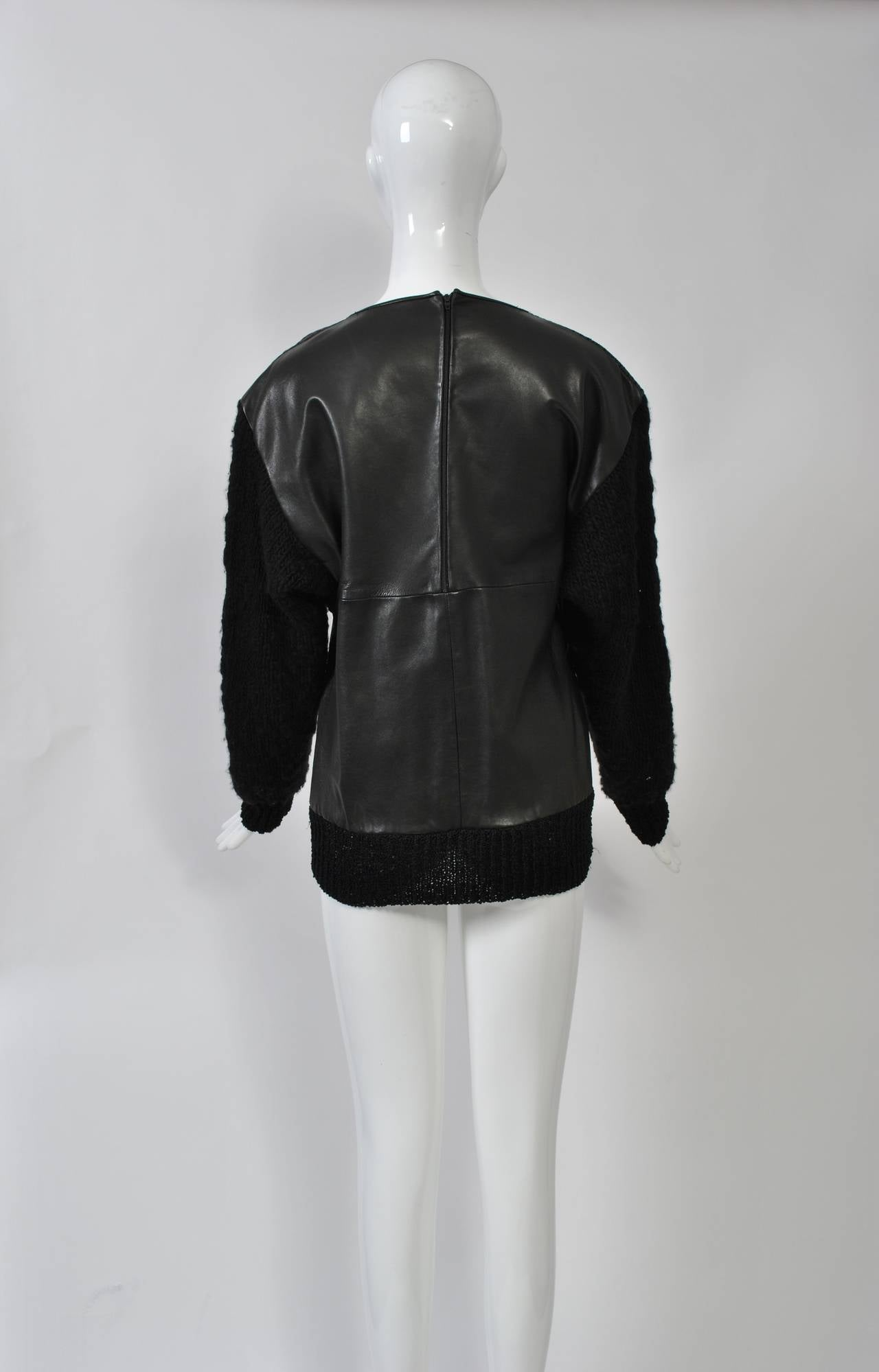 1980s Leather and Skin Patchwork Top 6