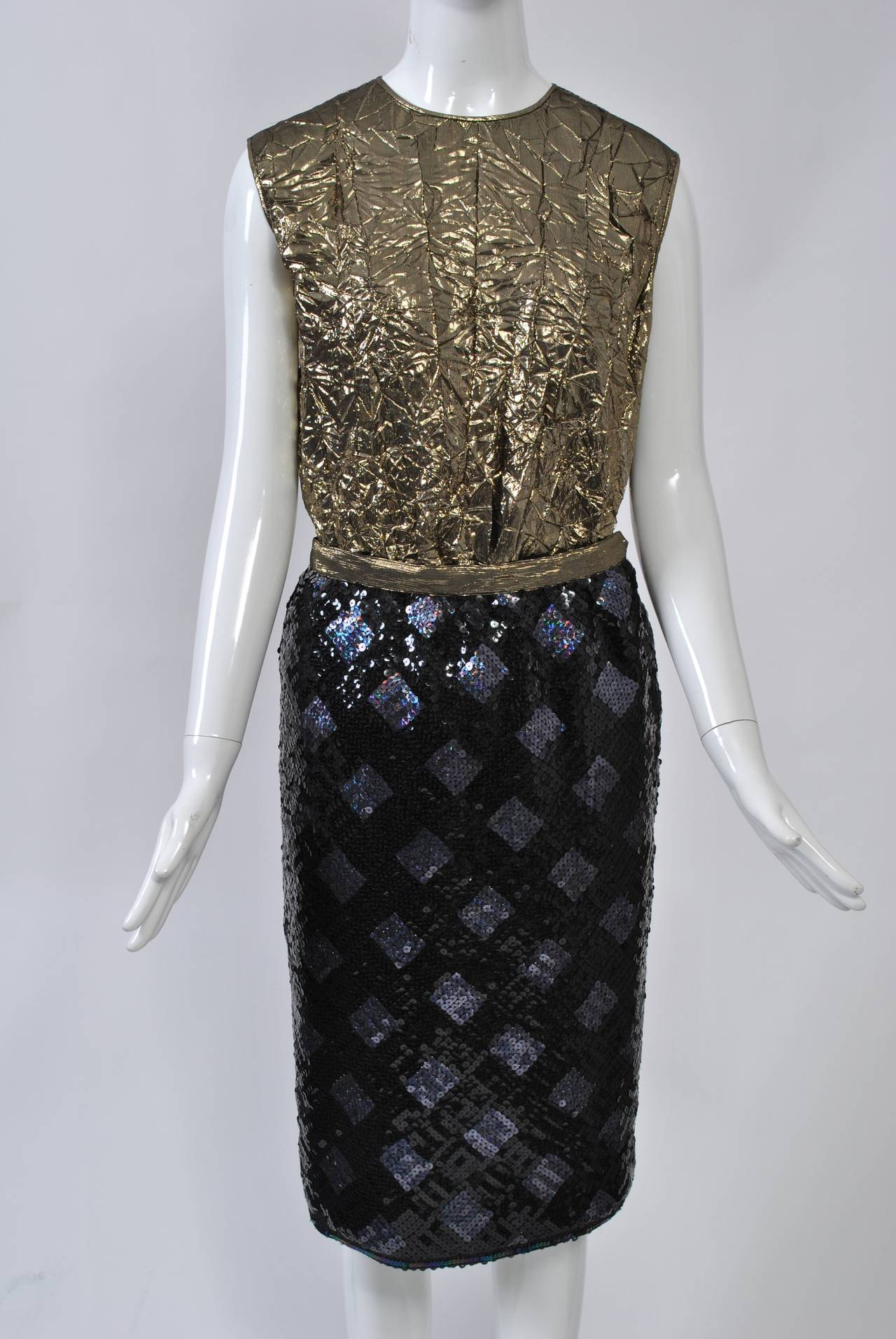 Women's Adolfo Sequin and Lame Suit For Sale