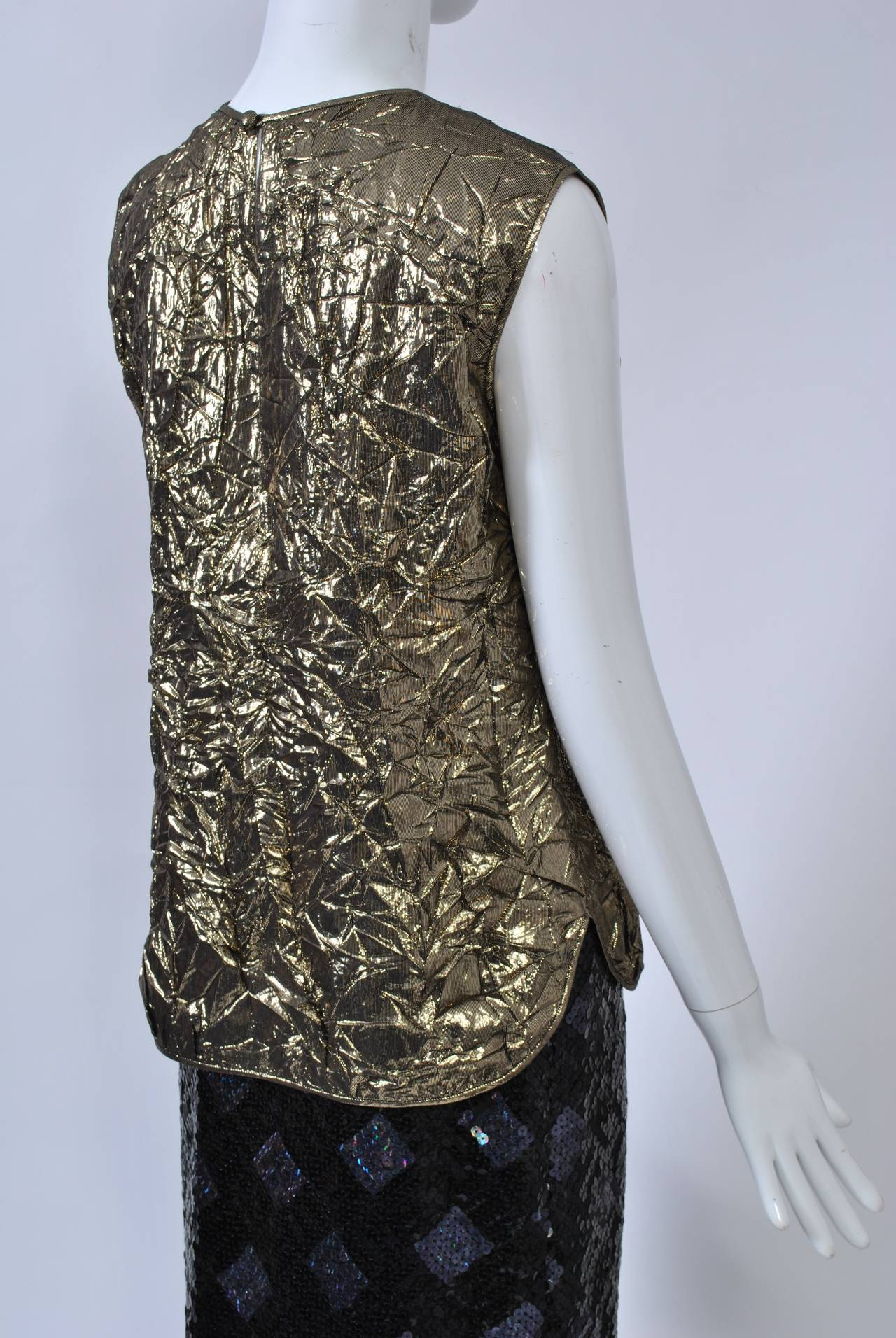 Adolfo Sequin and Lame Suit For Sale 4