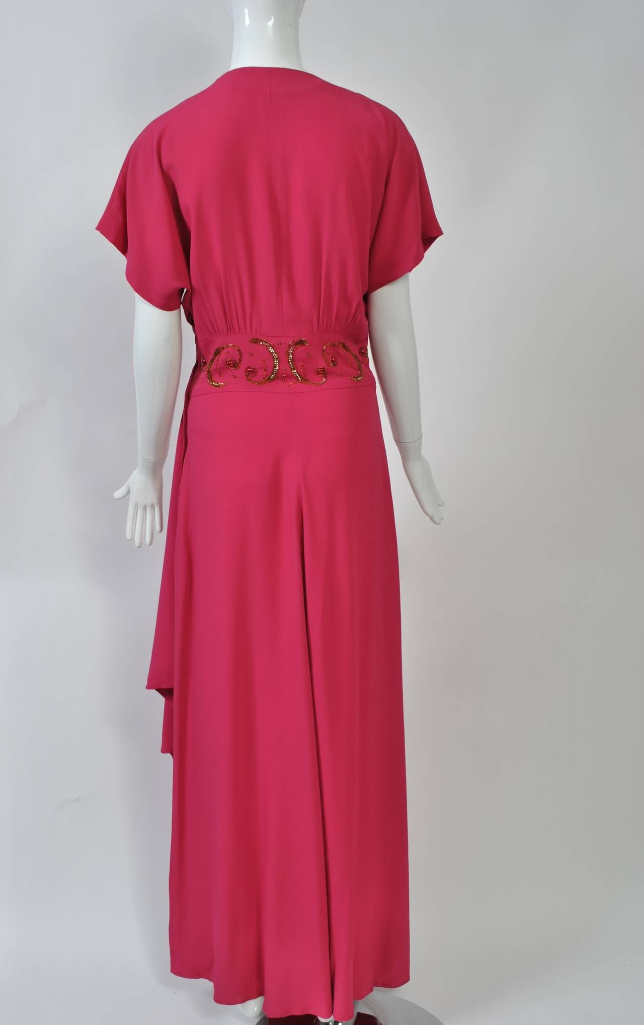 Emma Domb Rose 1940s Gown For Sale 1