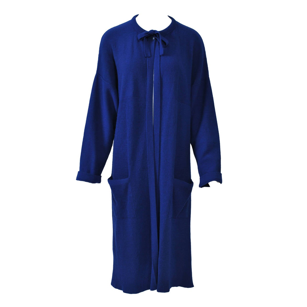 Sonia Rykiel Blue Sweater Coat For Sale at 1stdibs