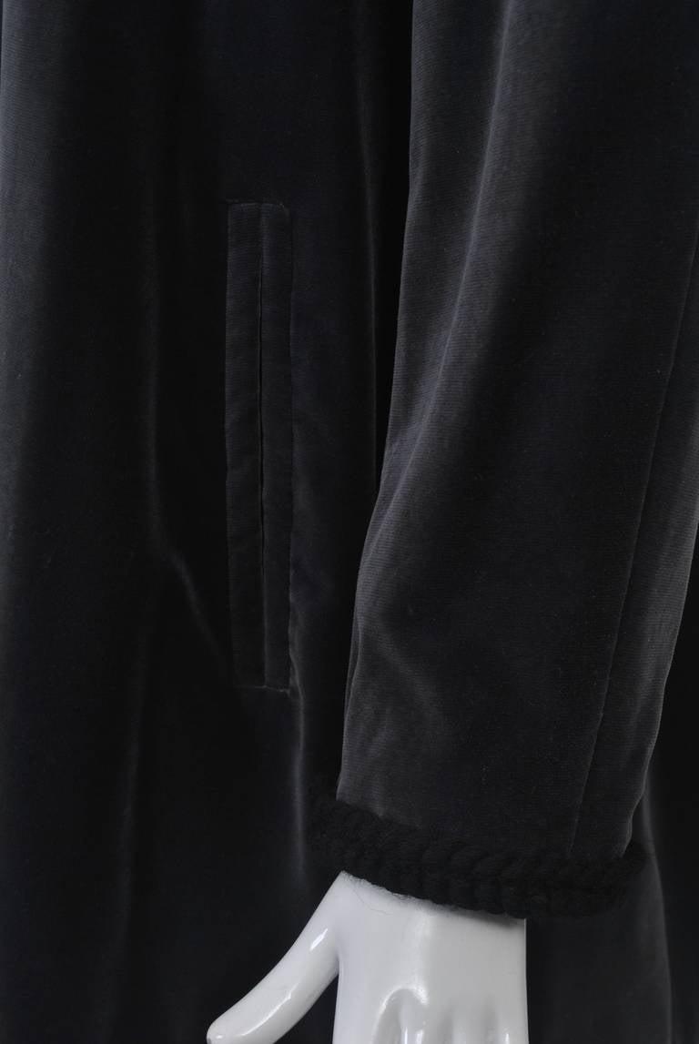 Women's YSL Gray Velvet Jacket For Sale