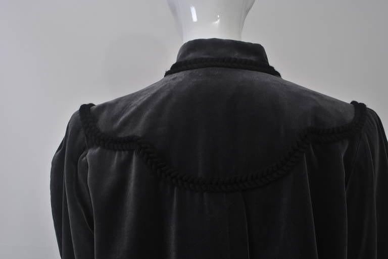 YSL Gray Velvet Jacket For Sale 2