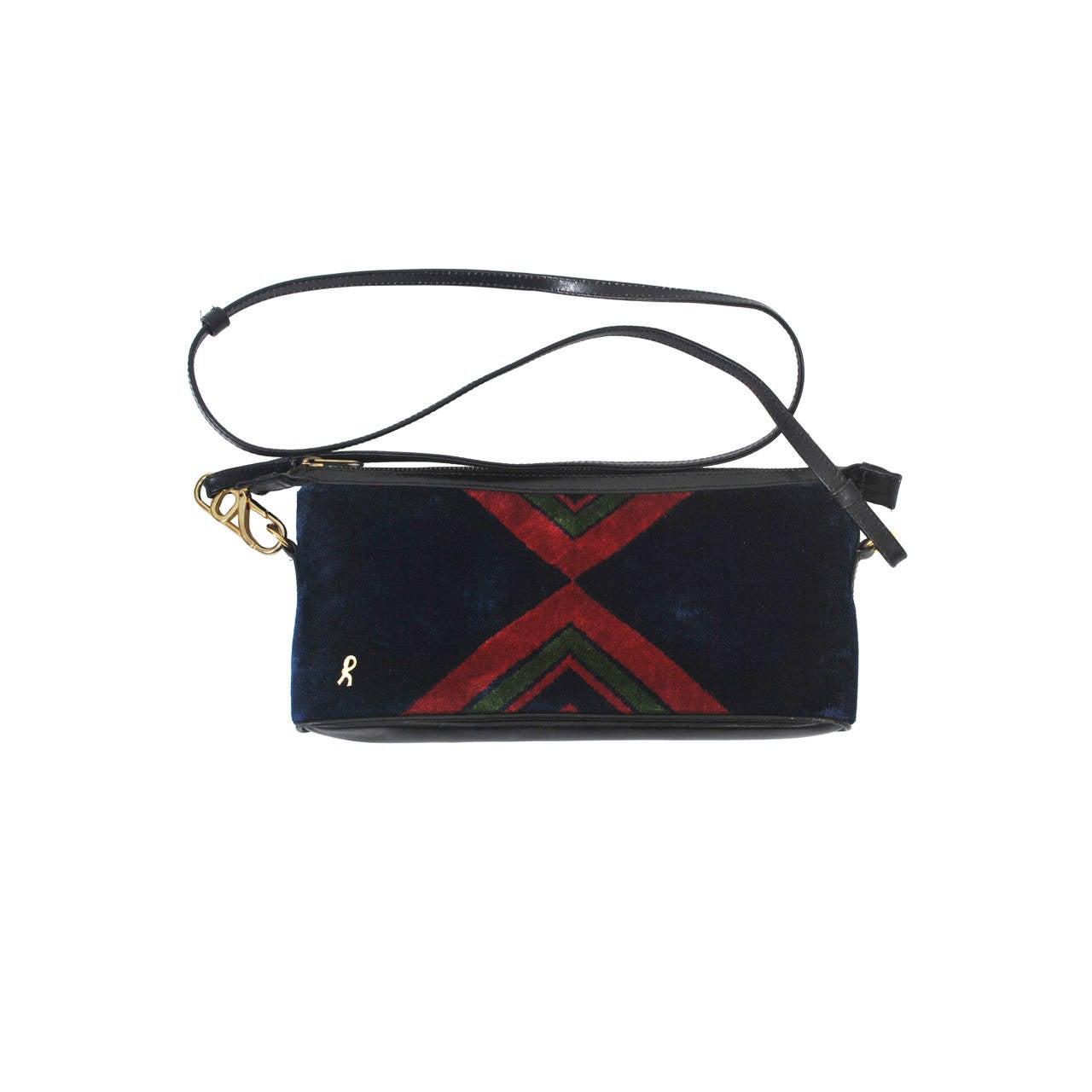 Roberta di Camerino Oblong Velvet Shoulder Bag