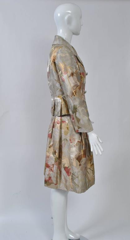 Ronald Amey was a masterful designer, from concept to execution, and, although a bit under the radar, his clothes are much sought after by connoisseurs. He used exquisite and interesting fabrics, as evidenced in this ensemble dating to the 1960s,
