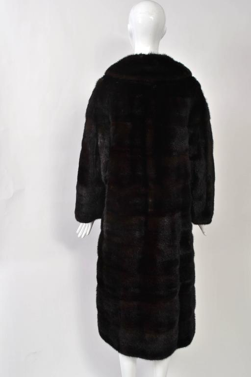 Horizontal Mahogany Mink Coat In Good Condition For Sale In Alford, MA