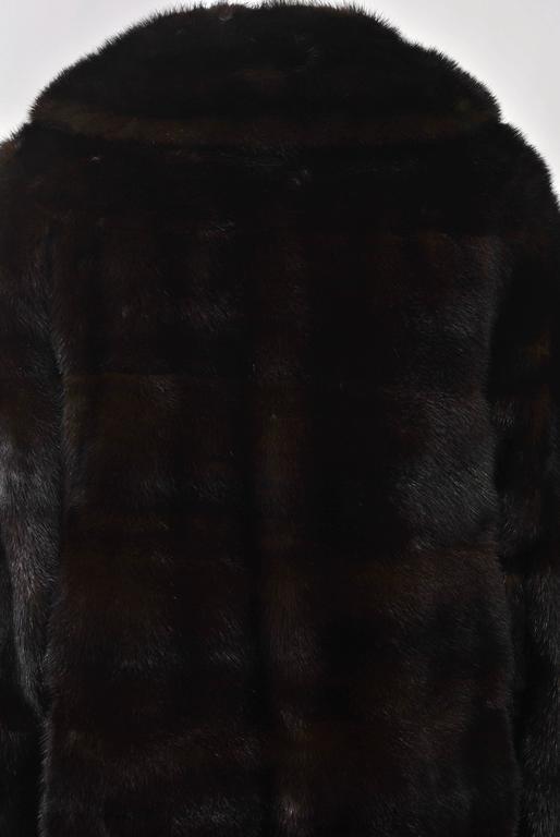 Horizontal Mahogany Mink Coat For Sale 2