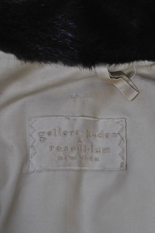 Horizontal Mahogany Mink Coat For Sale 3