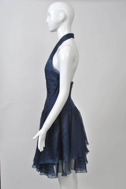 1990s Chanel Organza Halter Dress 6