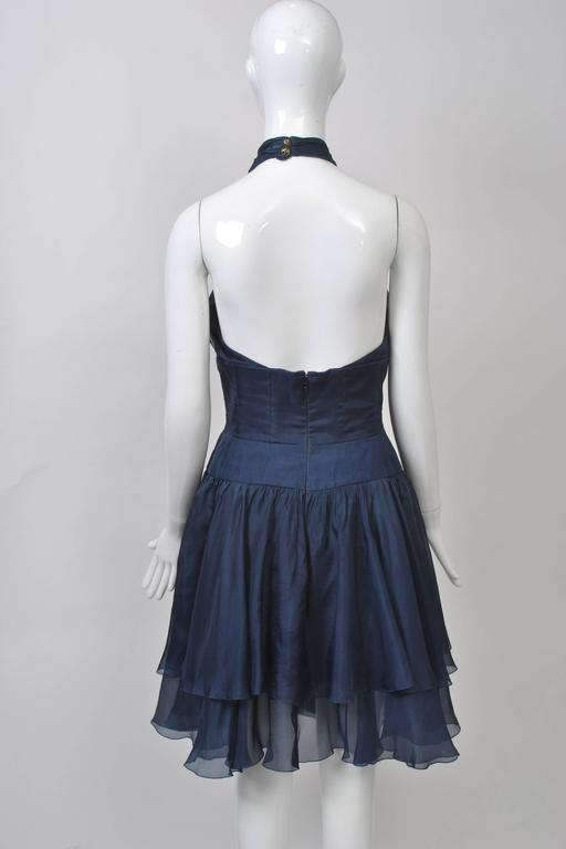 Women's 1990s Chanel Organza Halter Dress For Sale