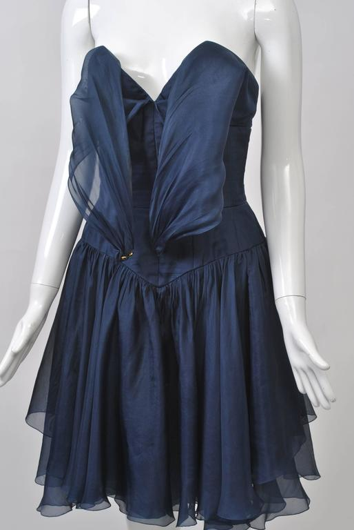 1990s Chanel Organza Halter Dress For Sale 2
