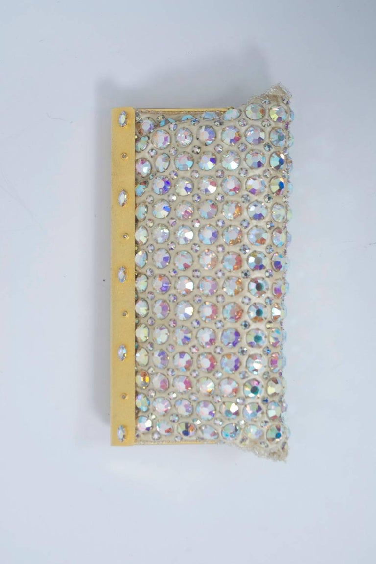 ABA Rhinstone Clutch In Excellent Condition For Sale In Alford, MA